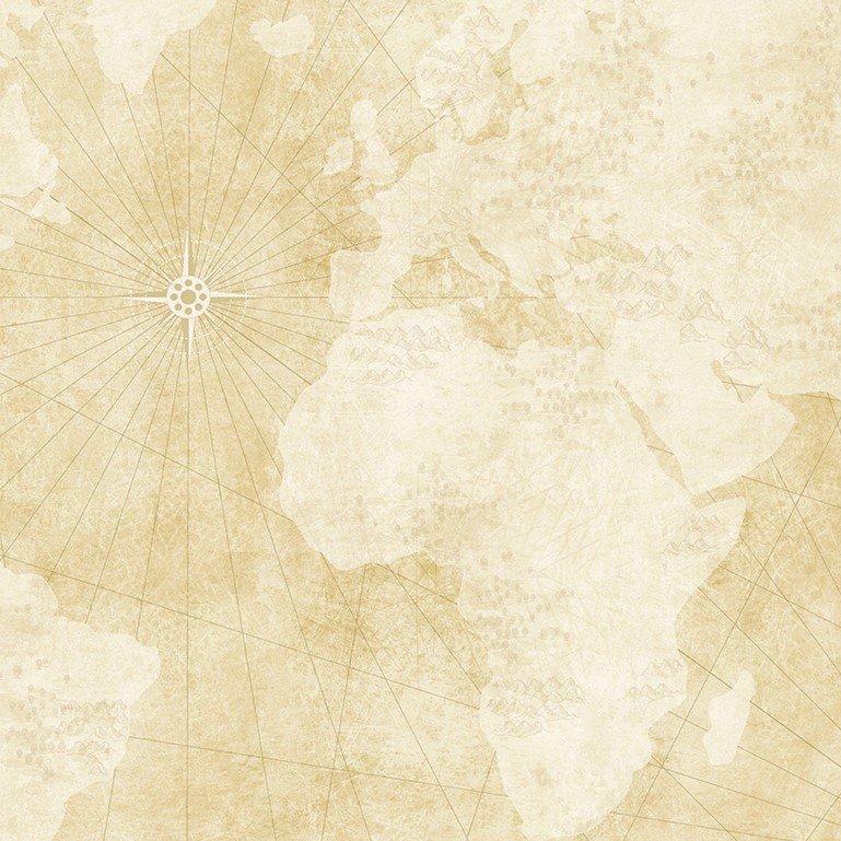 Quilters Trek - Needlepoint Map - Cream