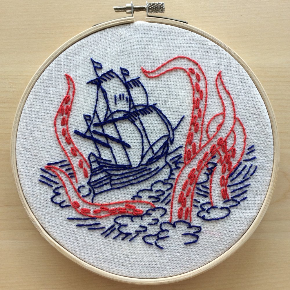 Release the Kraken - Complete Embroidery Kit