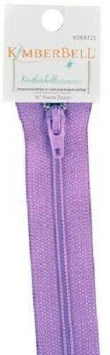 KIMBERBELL Non Separating Zipper - 16in/40cm - Purple