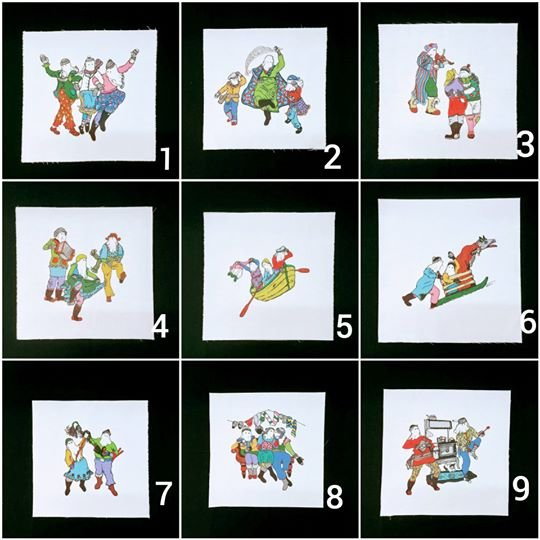 Scrappy Mummers Panels 1 - 9 (Complete Set)