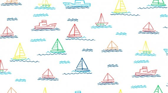 Sailing - White