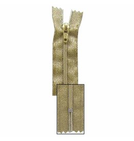 VIZZY Non Separating Zipper - 7in/18cm - Gold