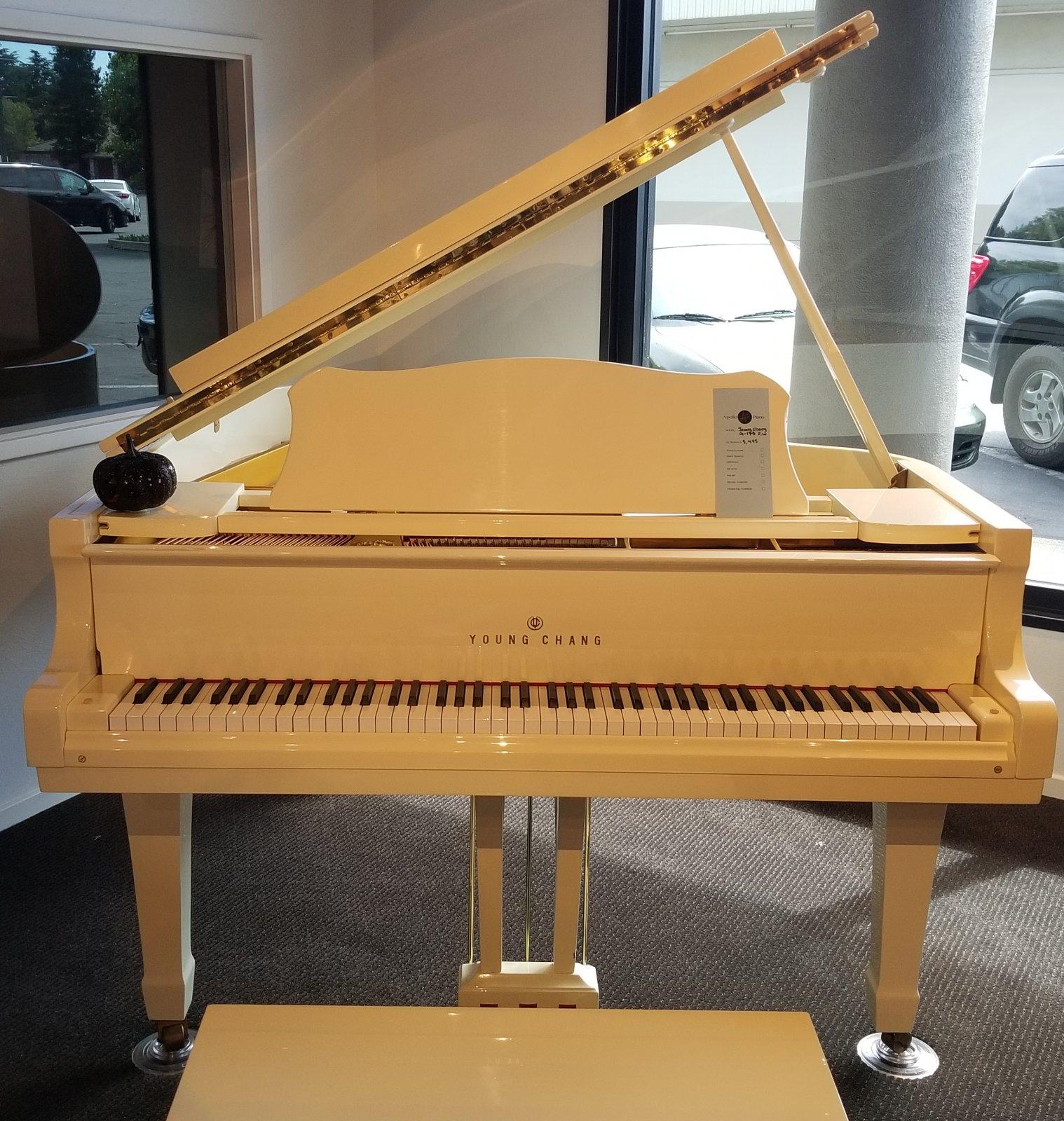 Young Chang G-175 Polished White Grand Piano