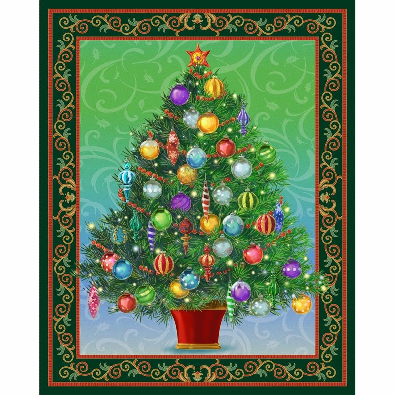 Christmas Tree Panel Quilt Kit