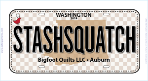 Stashsquatch Row by Row Fun Size License Plate