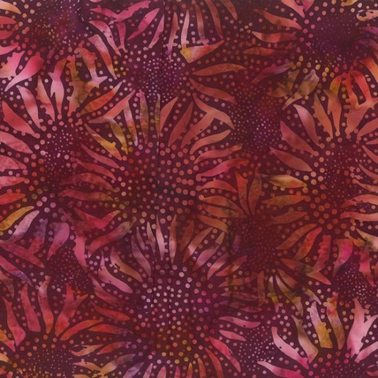 Sunflower Batiks 884-38-Burgundy