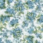 Watercolor Hydrangeas - Blue