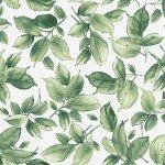 Watercolor Hydrangeas - Green Leaves
