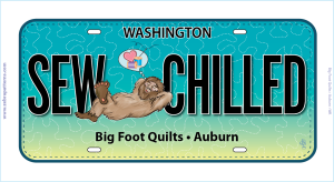 Sew Chilled Row by Row Fun Size License Plate