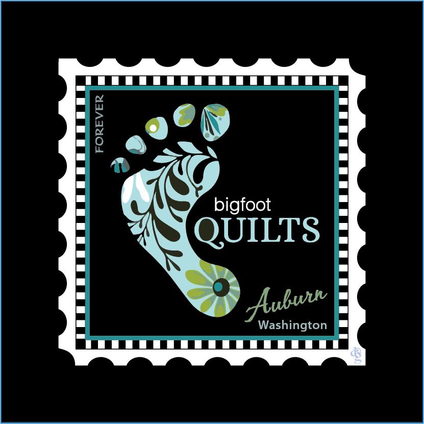Bigfoot Charm Stamp - Quilters Trek 2020