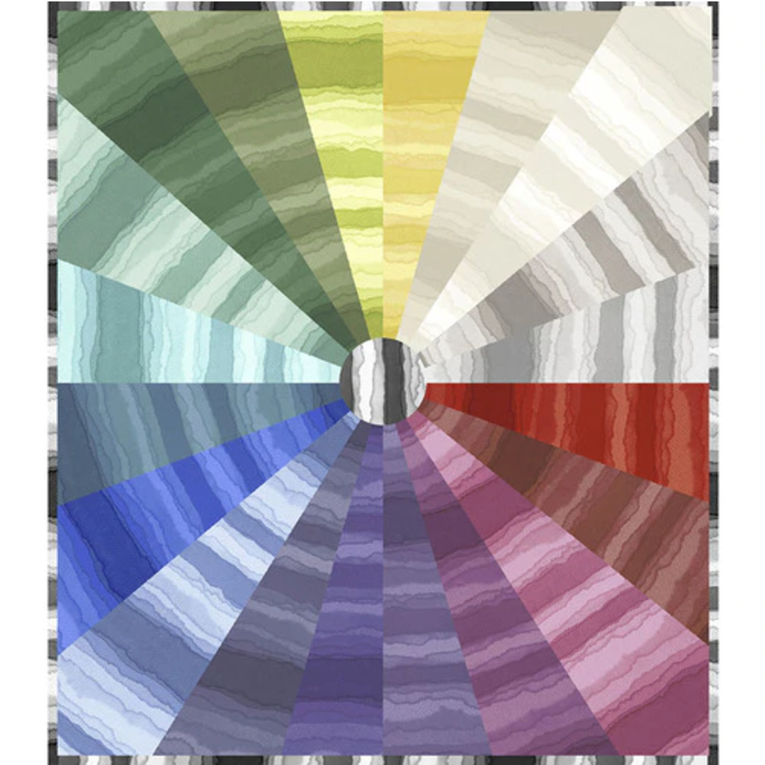 Stratosphere Color Whirl Quilt Kit