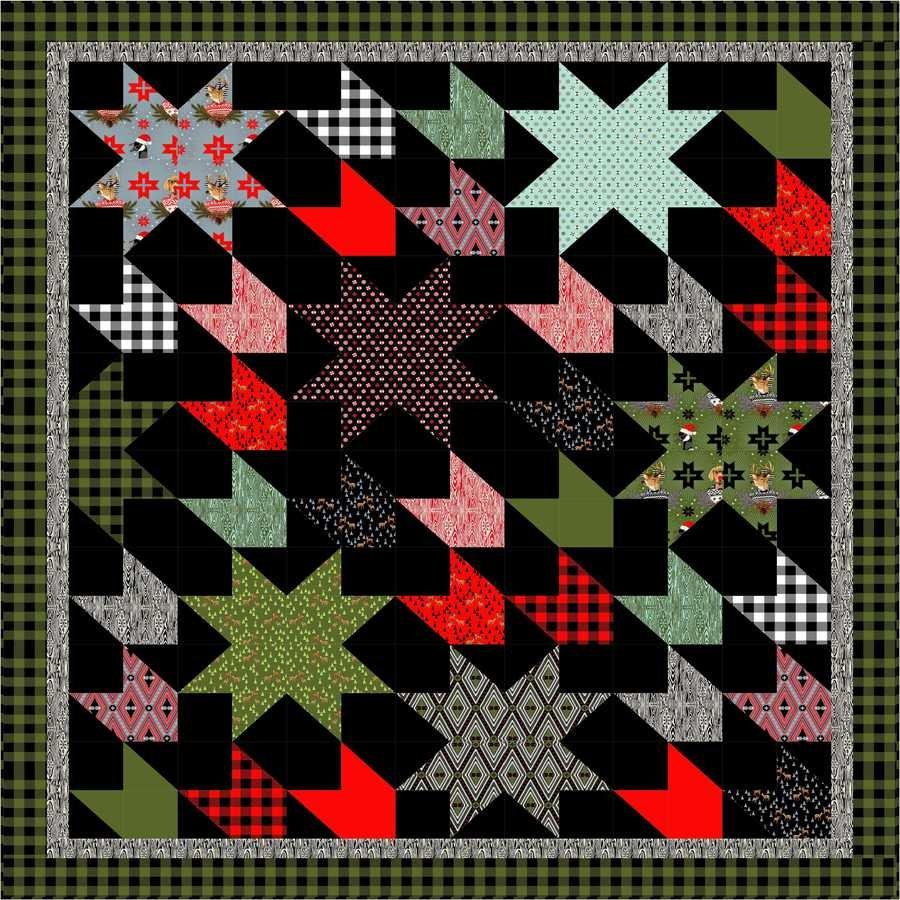 Holiday Homies Comfort & Joy Flannel Quilt Kit
