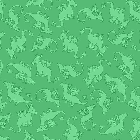 Dragons Rule! - Dragon Warriors in Green