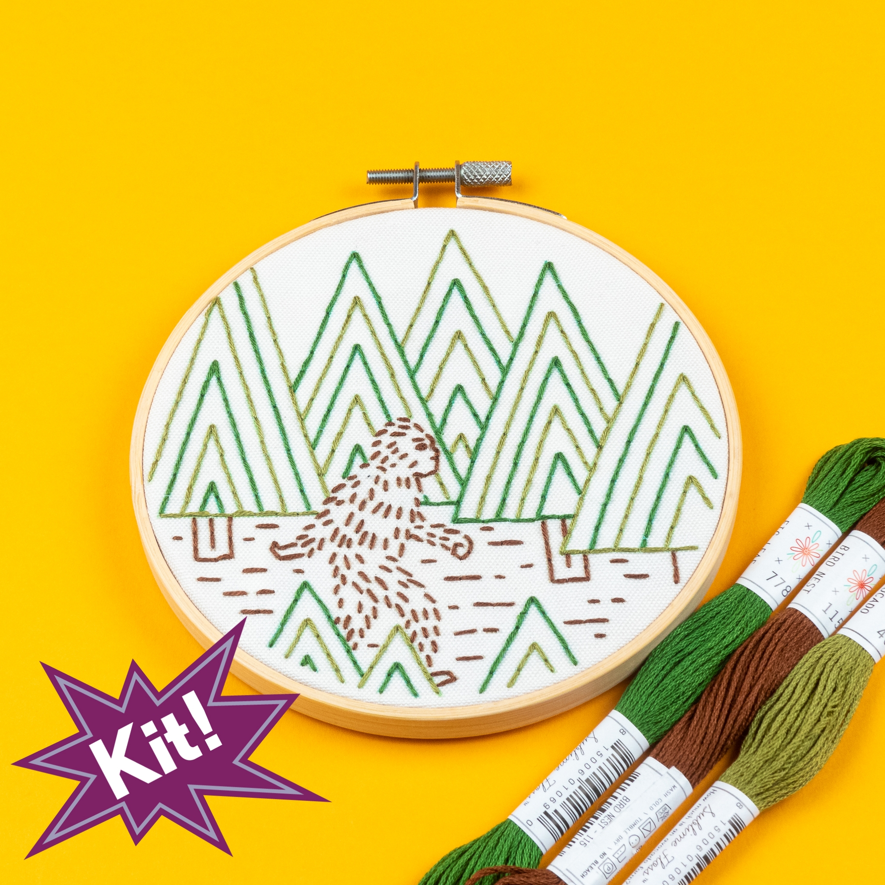 PREORDER Sasquatch 5 Embroidery Kit
