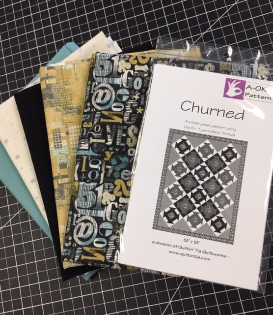 Churned - A 6-yard Quilt Kit