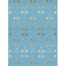 Neko and Tori - Penpengusa - Sky Metallic Fabric