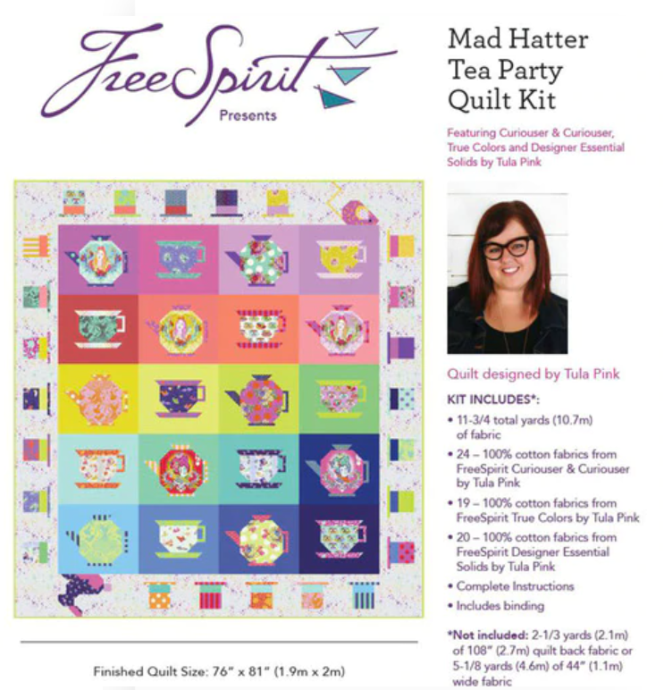 PREORER Madhatter Tea Party Quilt Kit