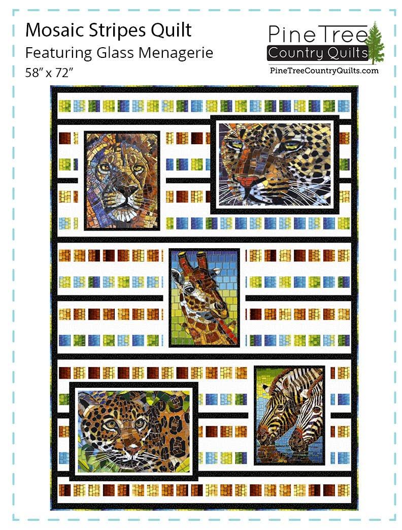 Mosaic Stripes Quilt Kit