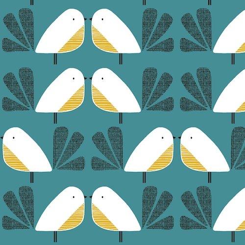 Nesting Birds 58 - Cotton/Linen Blend