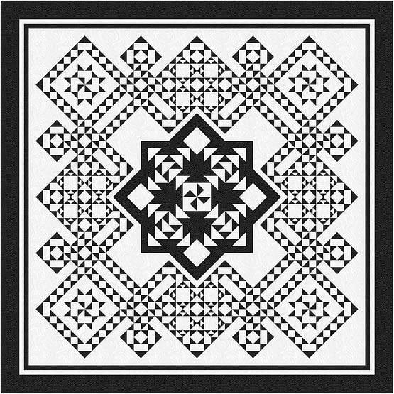 Pinwheel Puzzle Quilt Kit