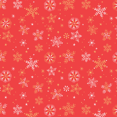 Skogen - Snowflake in Red