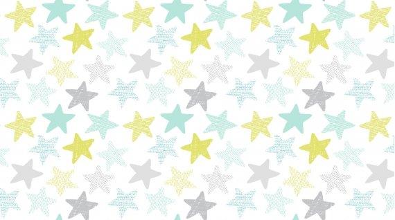 Wide Awake Flannel White Stars F1152