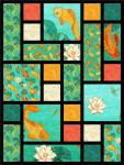 Koi Pond Tiles Quilt Kit