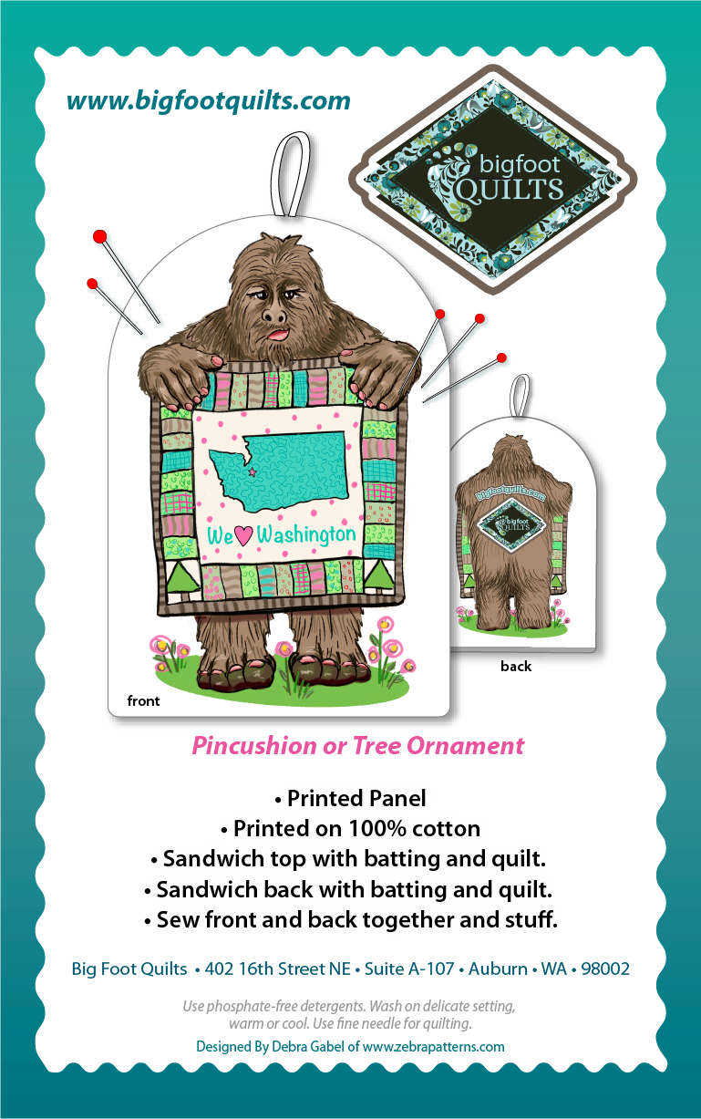 Bigfoot Quilts Pincushion