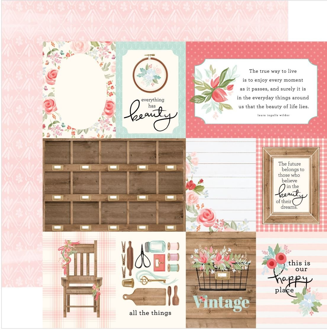 Farmhouse Market 3x4 journaling cards
