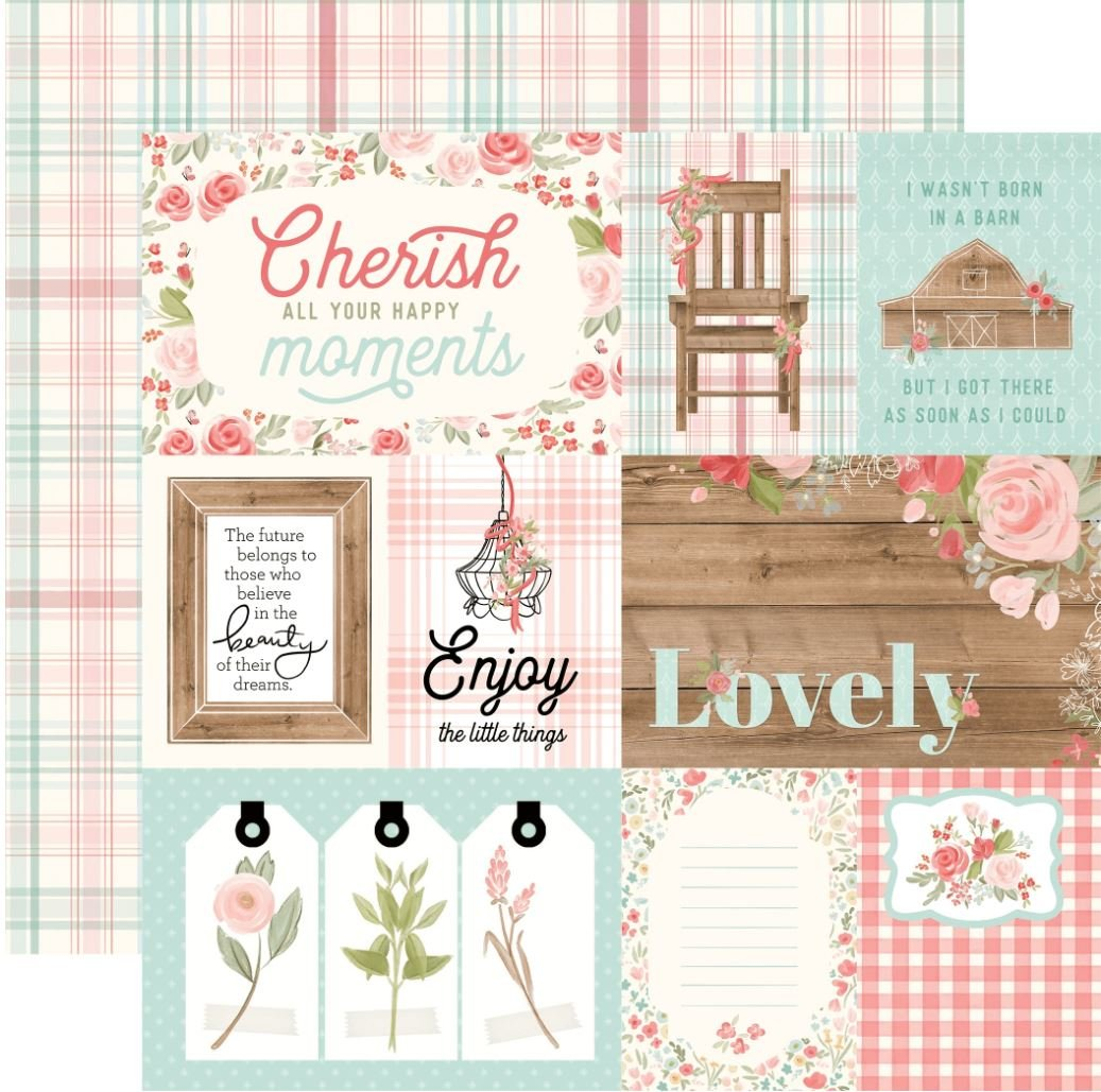 Farmhouse Market 4x6 journaling cards