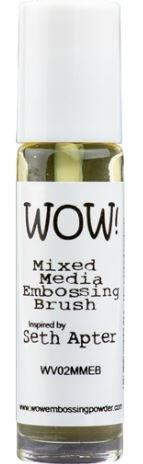 mixed media embossing brush
