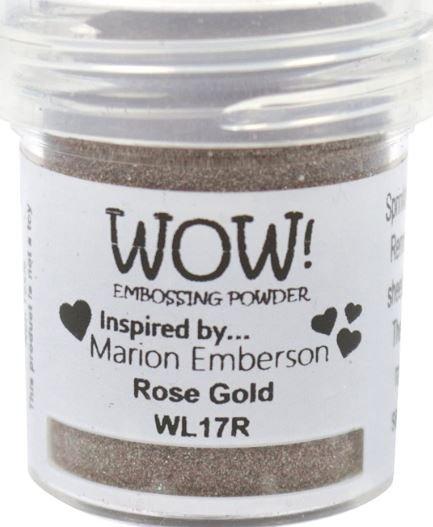 embossing powder Rose Gold