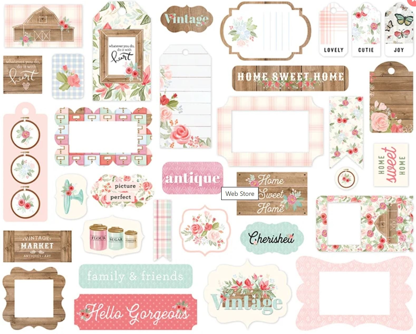 farmhouse market frames and tags
