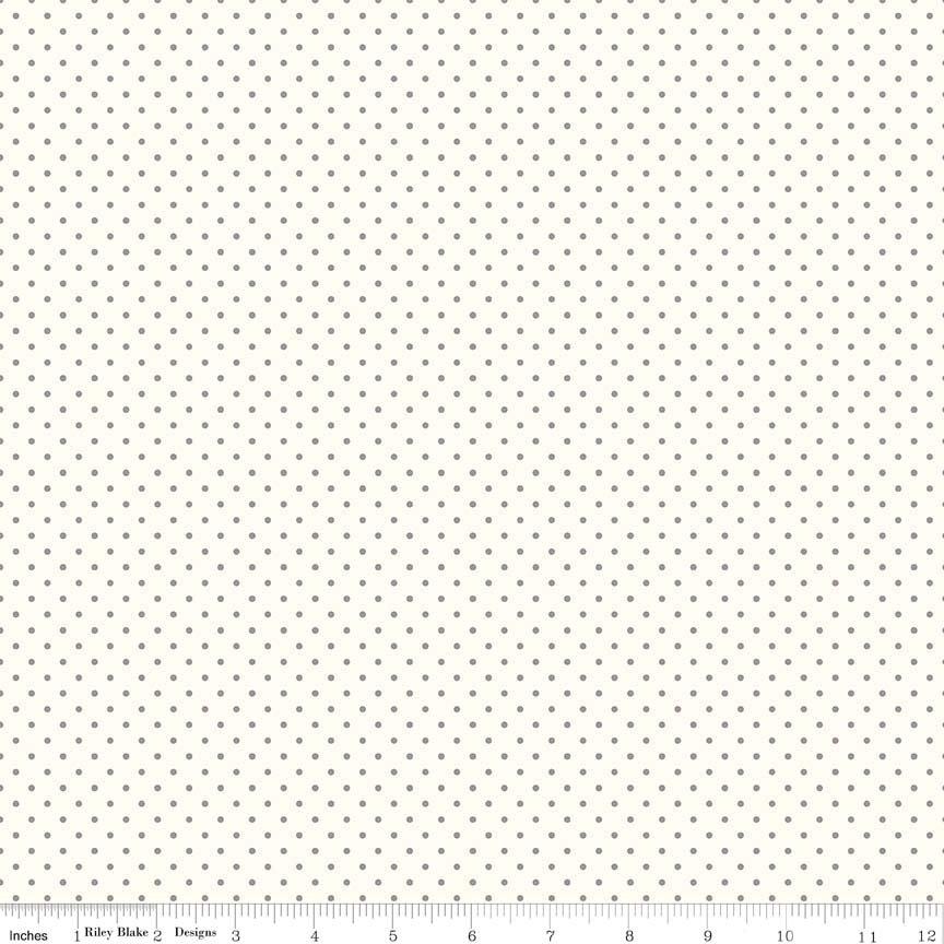 Swiss dot small gray