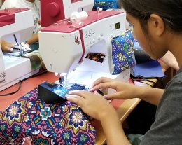 Learn to sew on a machine