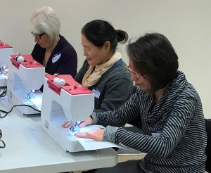 adults sewing