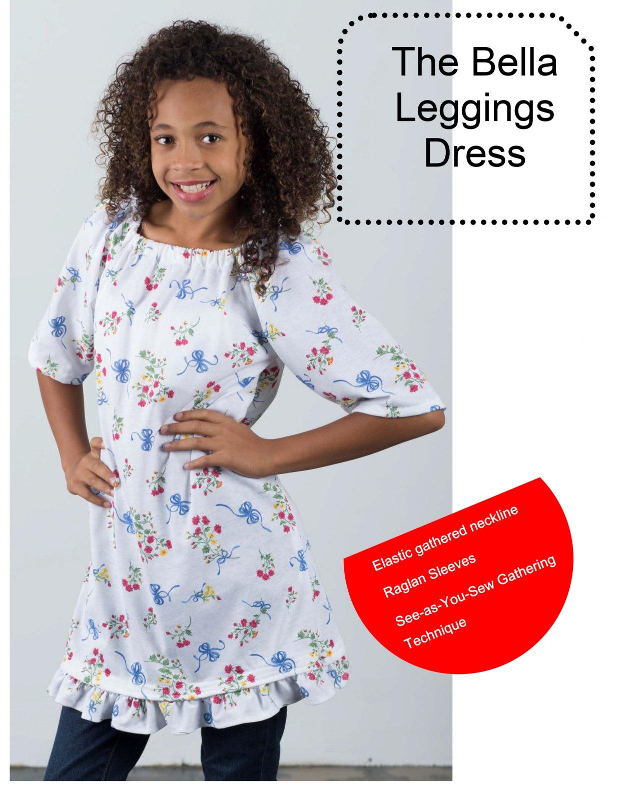 Bella Leggings Dress Tween Sewing Pattern