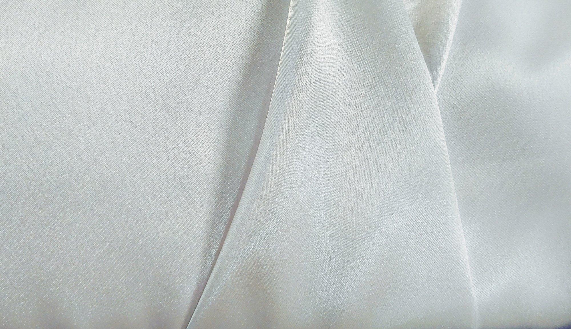 White Crepe Back Satin