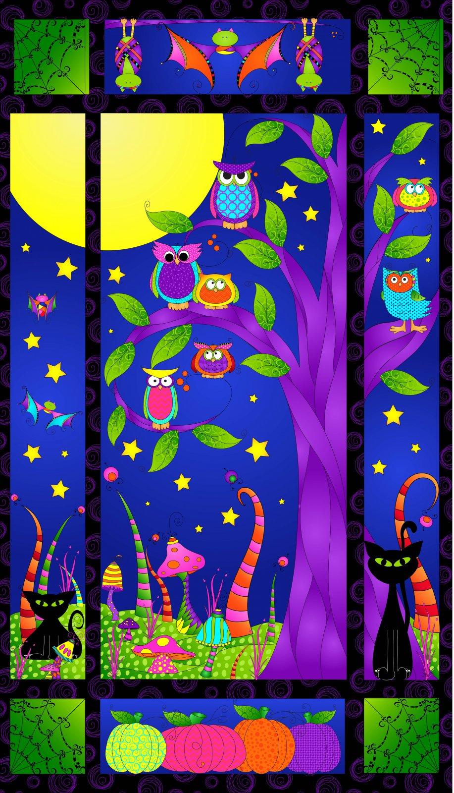 Bat Black- Spooky Night Panel
