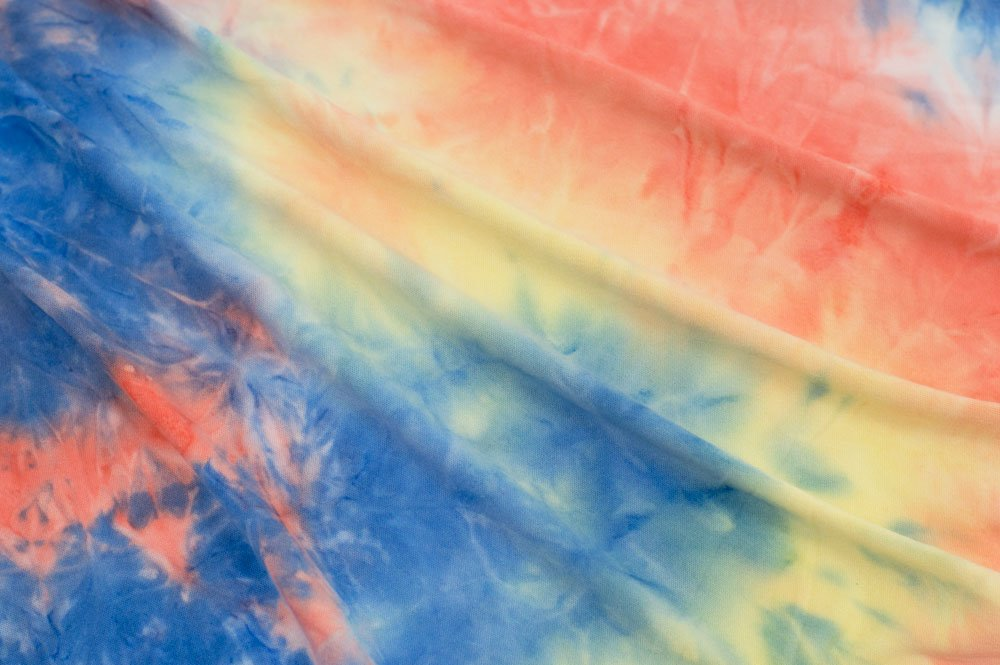 Double Brushed Tie-Dye Coral/Yellow/Light Royal