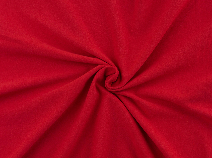 Milana Double Brushed Poly Red