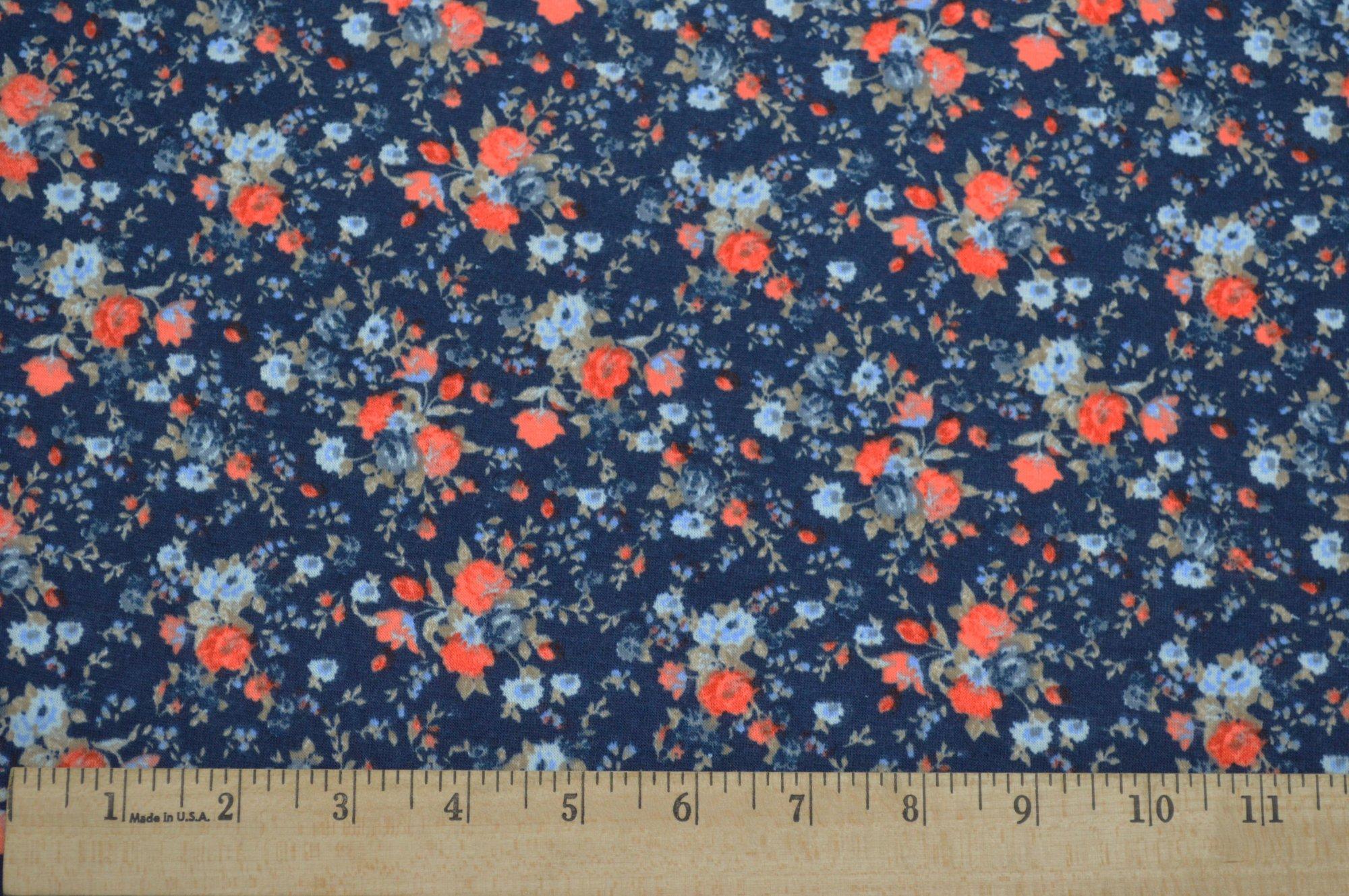Rayon/Spandex Floral Knit