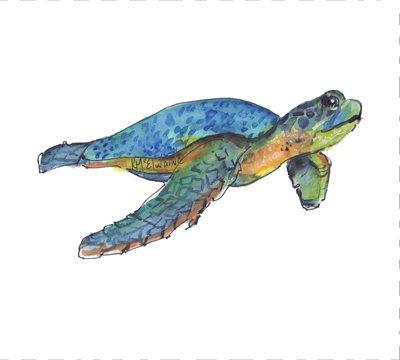 K McElwaine Quilt Block Sea Turtle