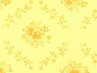 108 Floral Yellow Backing