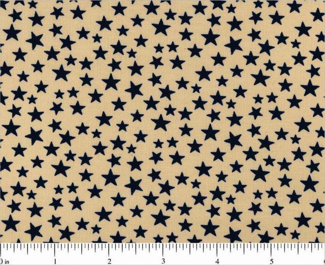 Navy Stars on Natural