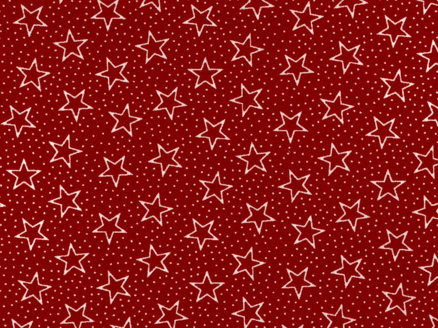 108 Dotted stars on Red