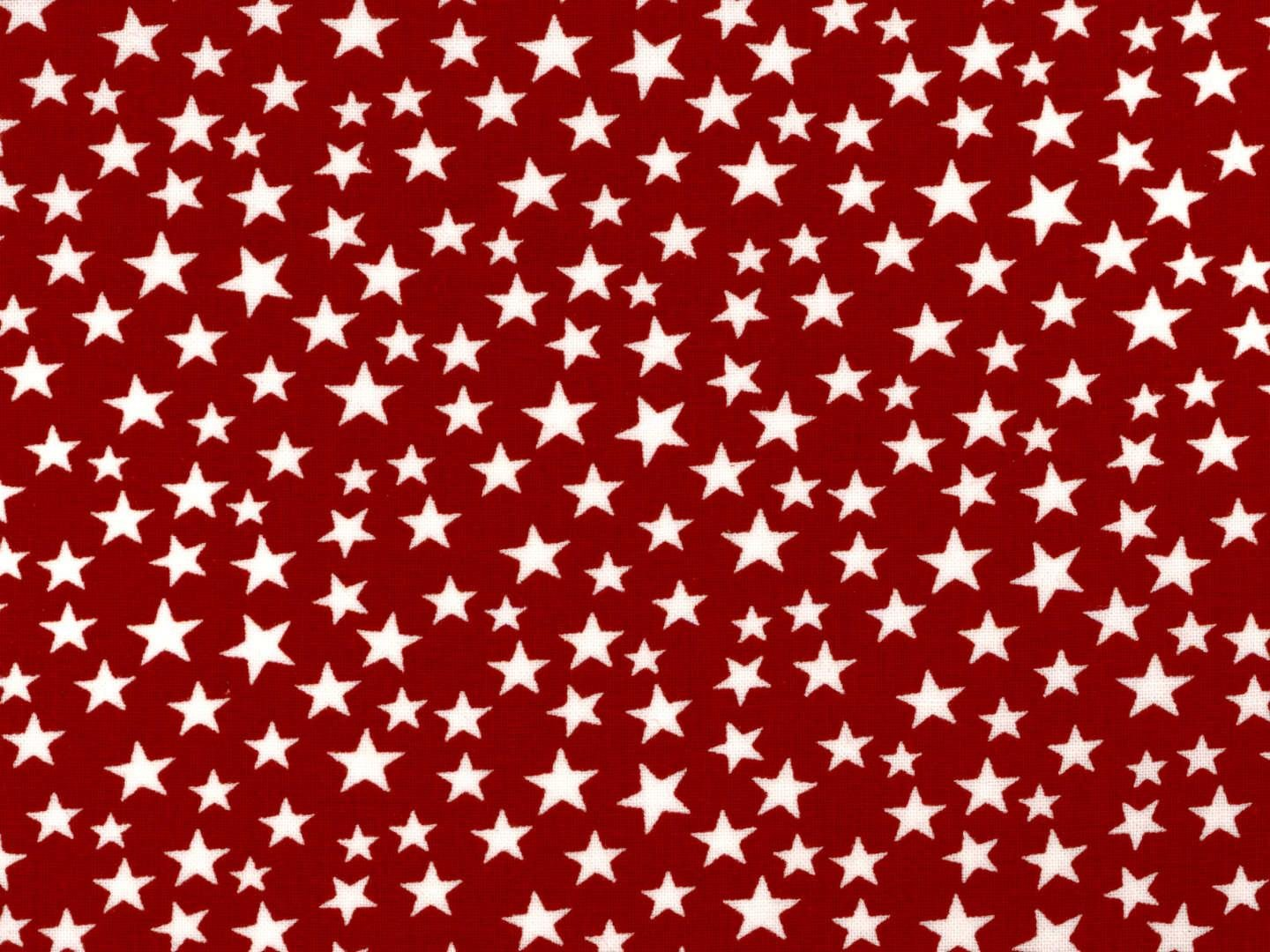 108 wide backing red with white stars