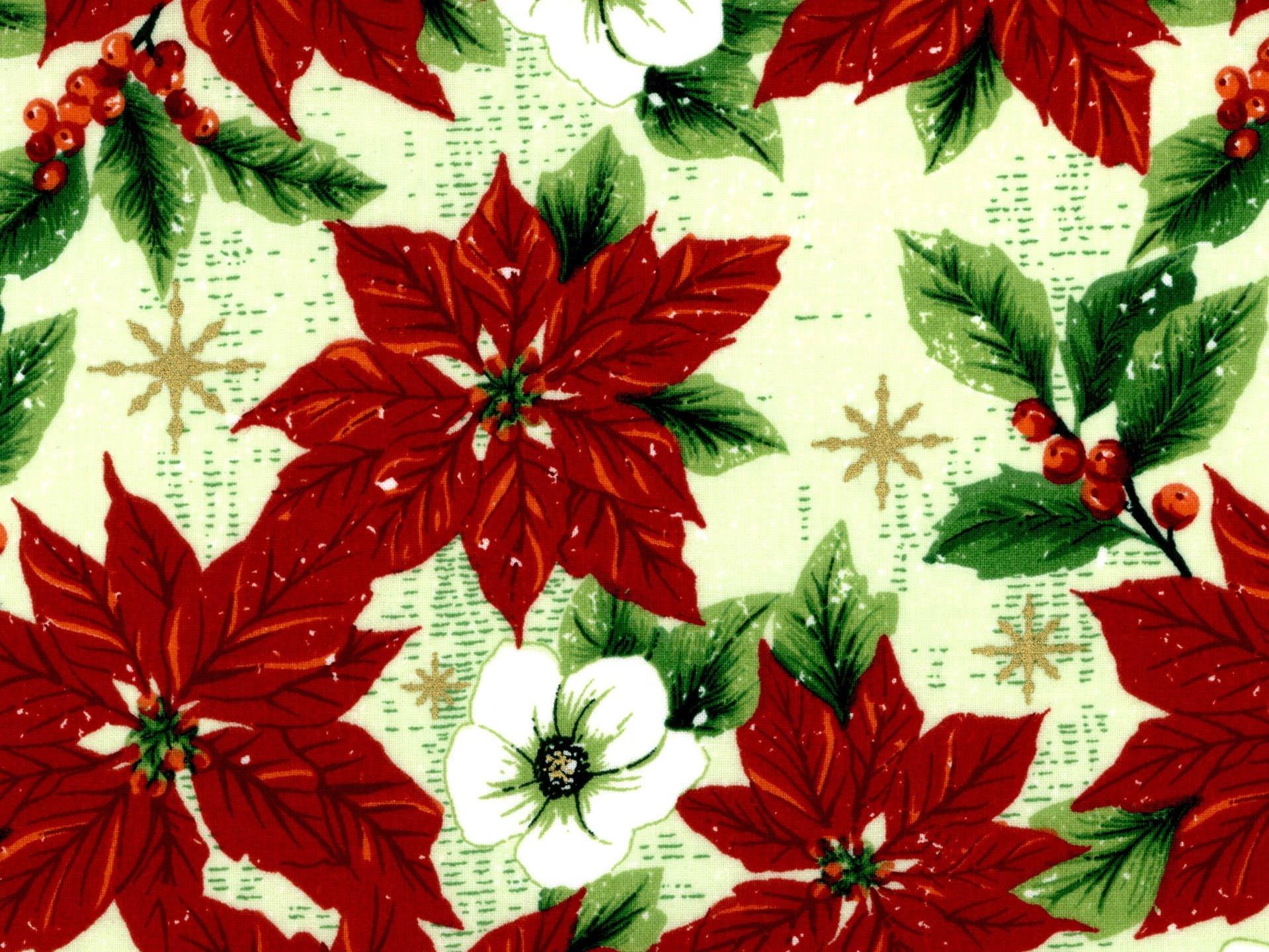 Poinsettia with Metallic accents