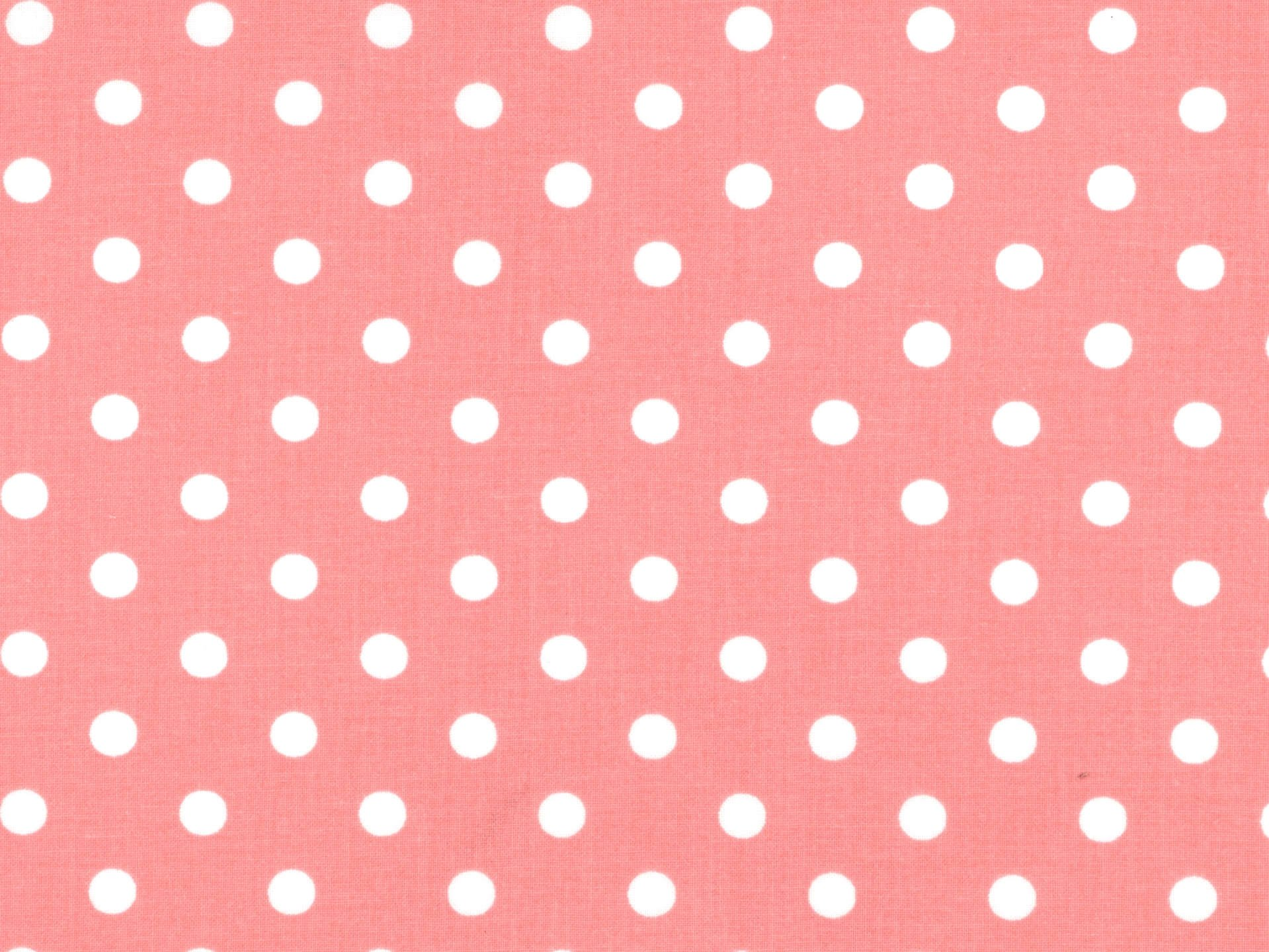 1/4 White Dot on Pink
