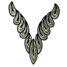 Sequin Collar - FA517GLM - Gold Multi